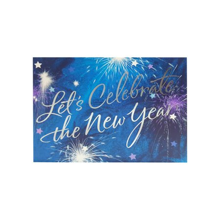 hallmark silver foil embellished new year fireworks party invitations w envelopes 8 count