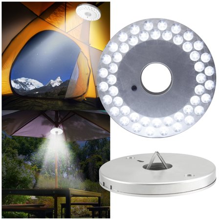 48 LED Outdoor Umbrella Night White Lamp Lantern Pole Light Patio Yard Garden - Lighting Accessories Umbrellas
