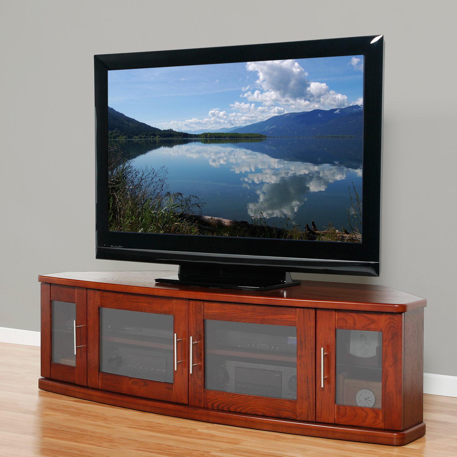 Plateau Newport 62 Inch Corner TV Stand in Walnut