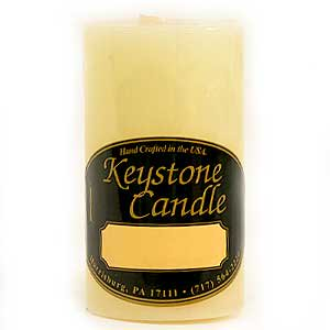 - 1 Pc French Vanilla 2x3 Pillar Candles 2 in. diameterx3.25 in. tall