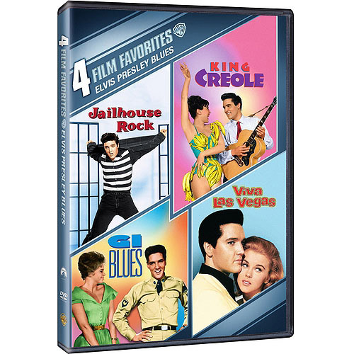 4 Film Favorites: Elvis Presley Blues: G.I. Blues / King Creole / Jailhouse Rock / Viva Las Vegas (With INSTAWATCH)