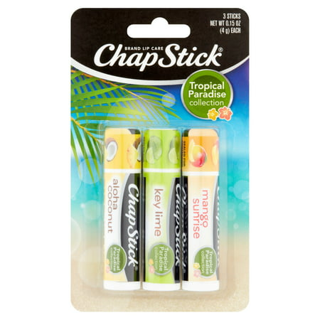 (3 pack) ChapStick Tropical Paradise Collection Lip Balm, 3