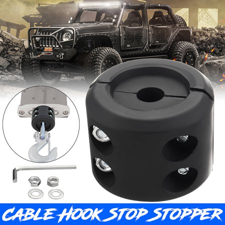 Universal ATV UTV Winch Guard Split Cable Hook Stop Stopper Set Rubber Cushion ATV-SCHS