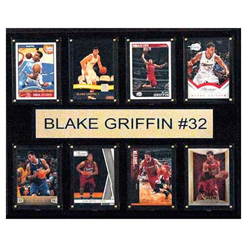 C and I Collectables NBA 15W x 12H in. Blake Griffin Los Angeles Clippers 8 Card Plaque