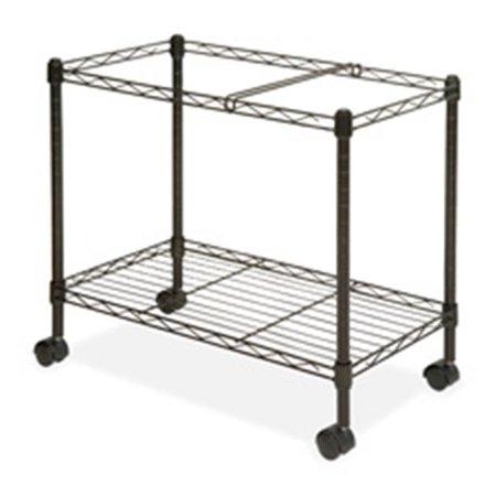- Mobile Filing Cart, Ltr-Lgl, 12.88 in. x 25.75 in. x 20.5 in., Black