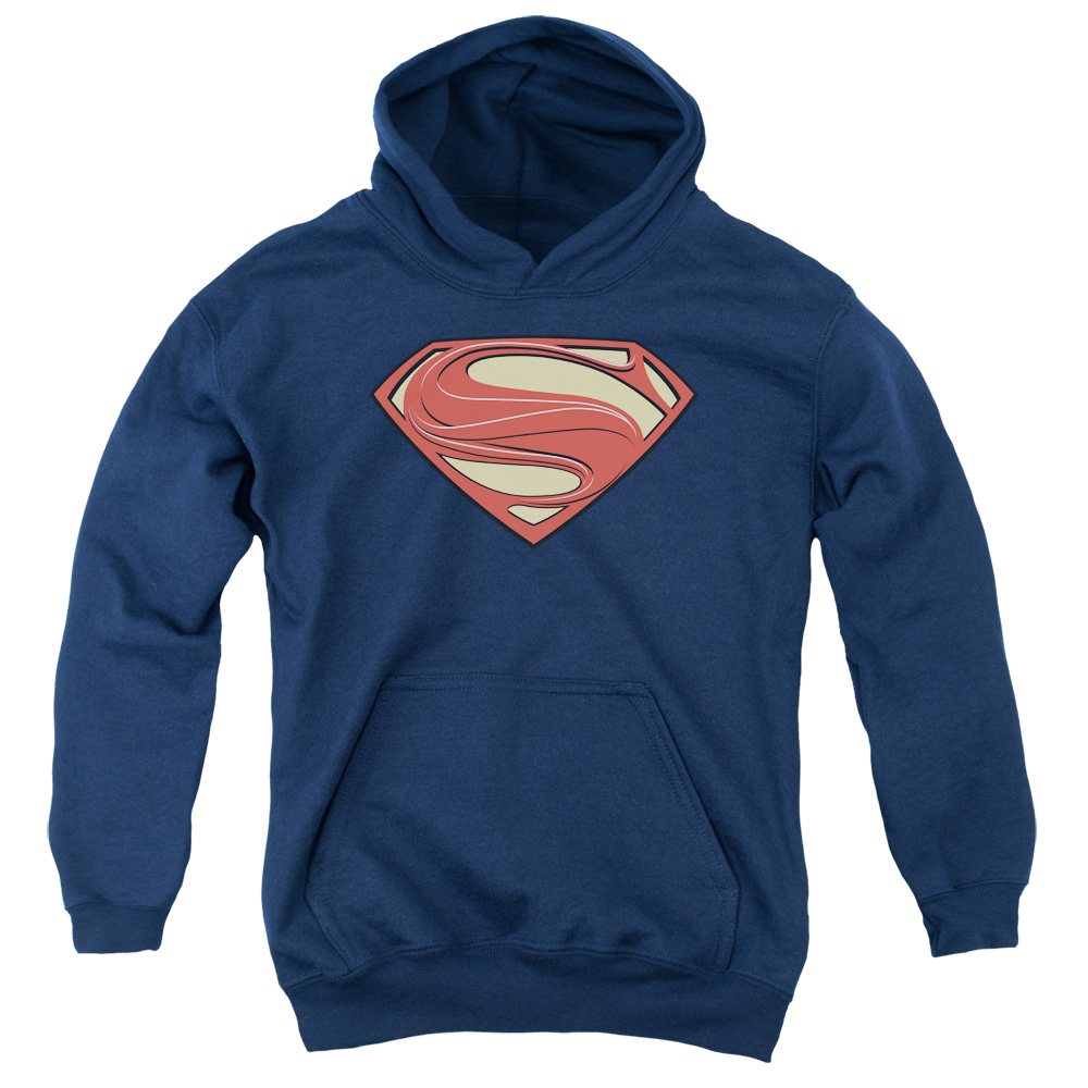 Man of Steel Superman New Solid Shield Big Boys Pullover Hoodie