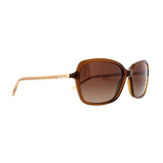 b662b7bbee Coach - COACH Sunglasses HC 8152 532813 Brown Glitter Crystal Brown 57MM -  Walmart.com