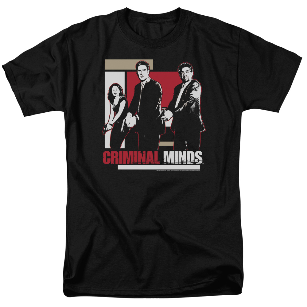 Criminal Minds Guns Drawn Mens Short Sleeve Shirt