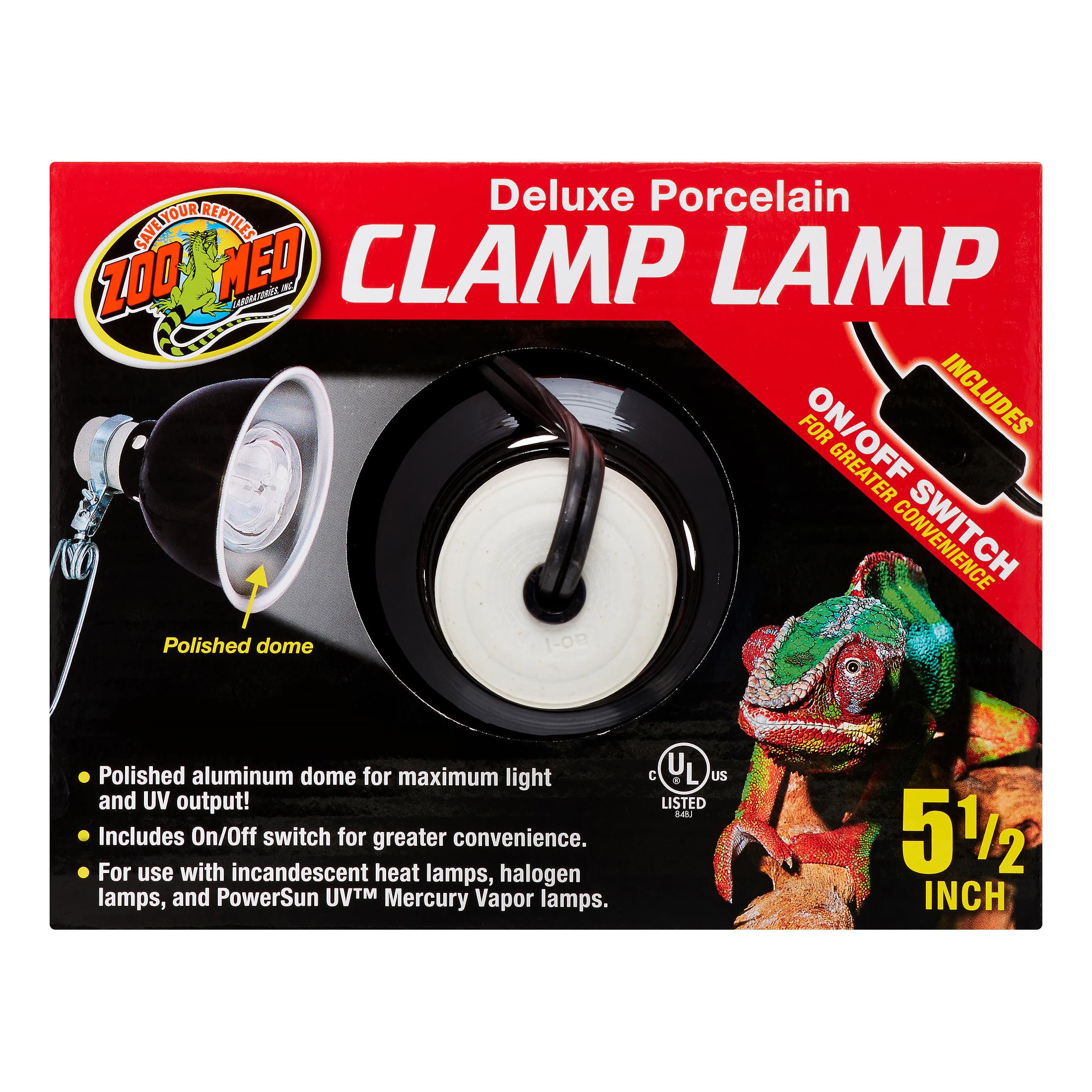 Zoo Med Deluxe Porcelain Clamp Lamp 5 5 Quot 100 Watt Walmart Com Walmart Com