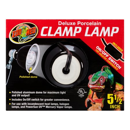 Zoo Med Deluxe Porcelain Clamp Lamp, 5.5