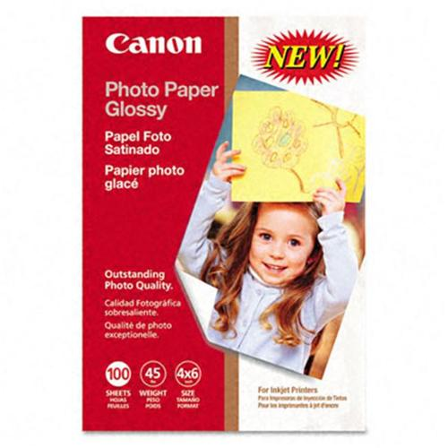 Canon Glossy Photo Paper, 45 Lbs., 4 X 6