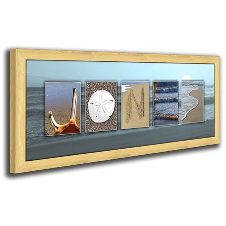 Personalized Coastal Beach Name Canvas Wall Art, Live Previews, Choose Each Photo, Multiple Options