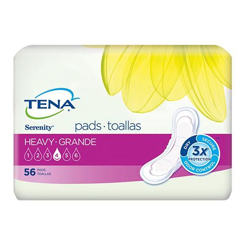 Tena Serenity Pads For Women Heavy, Regular, 56 Ea