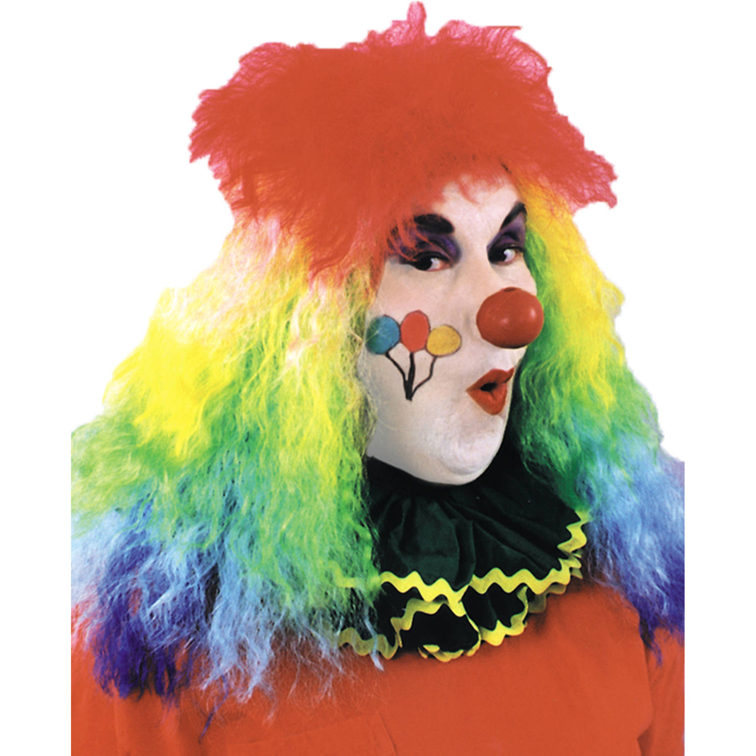 Rainbow Clown Wig Adult Halloween Accessory