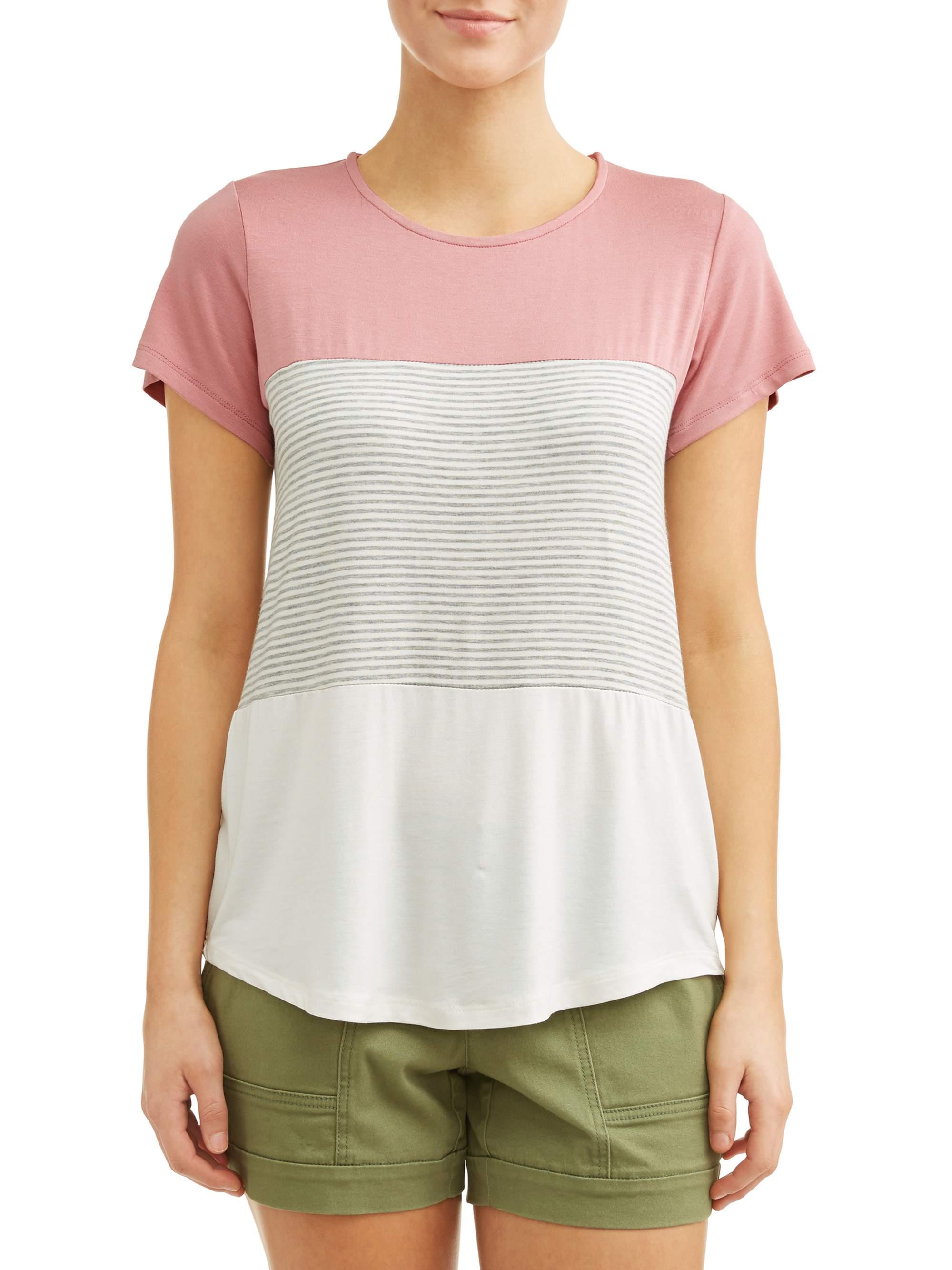 Women's Colorblock Short Sleeve T-Shirt