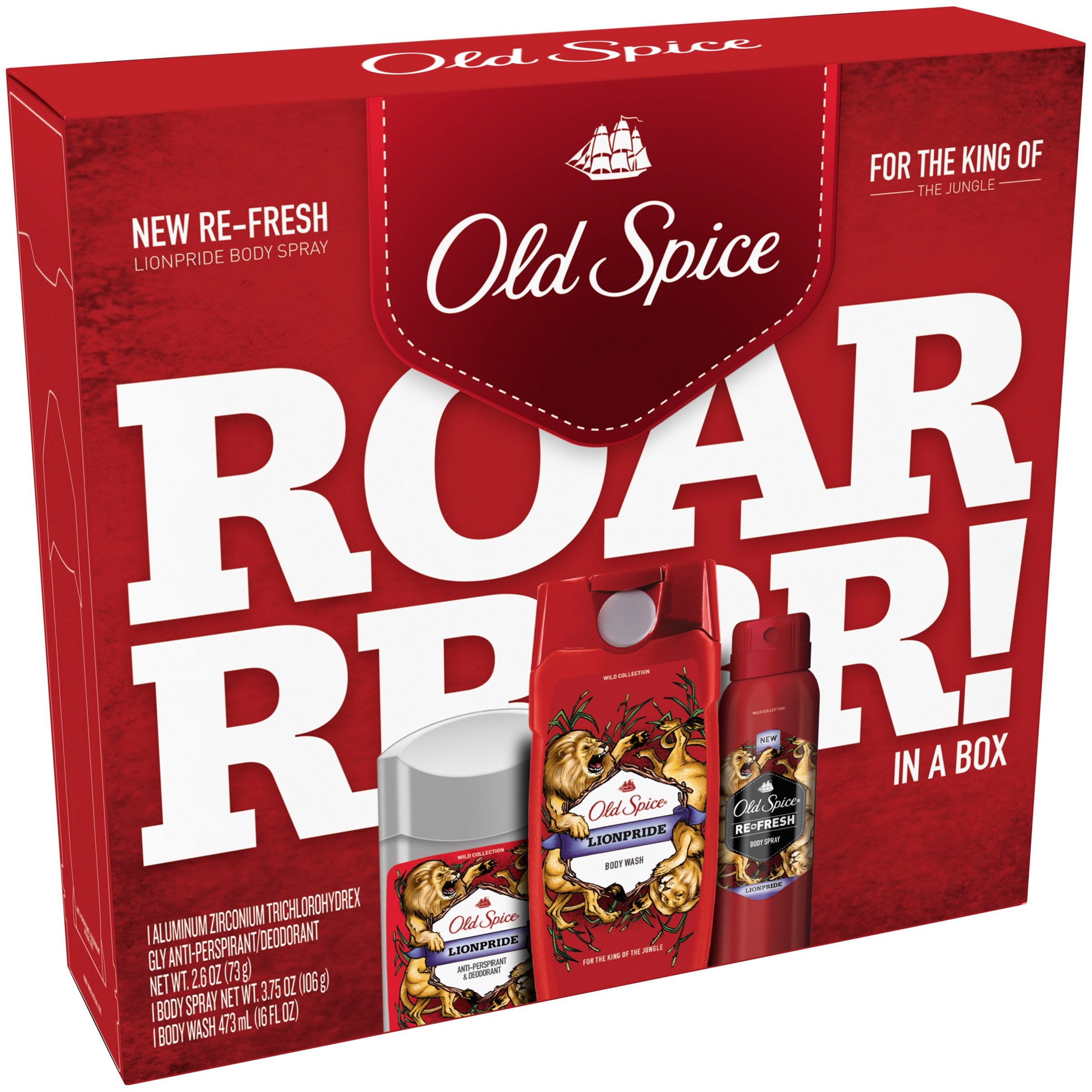 Old Spice® Wild Collection Lionpride 3 pc Regimen Pack