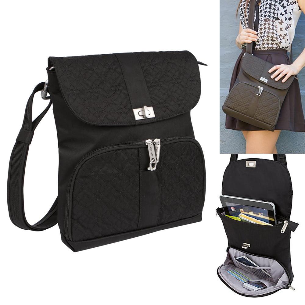 Travelon Rfid Anti Theft Shoulder Handbag Purse Lady