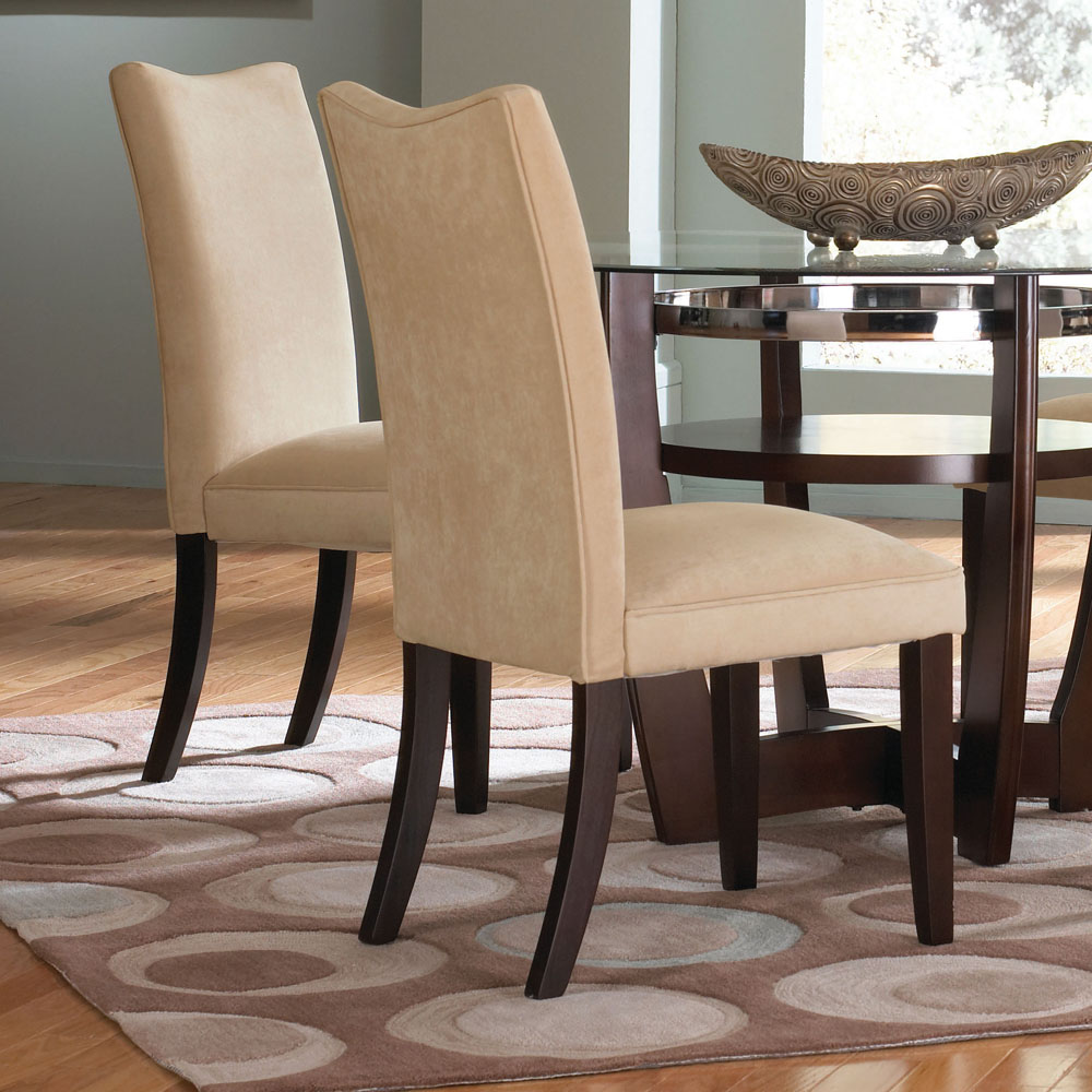 Standard Furniture La Jolla Parson's Chair in Camel Velvet
