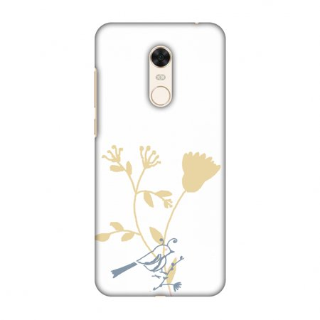 Birdie Note (Xiaomi Redmi Note 5 Case - The doodle birdie, Hard Plastic Back Cover, Slim Profile Cute Printed Designer Snap on Case with Screen Cleaning Kit)