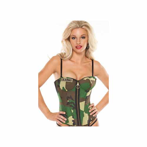 Coquette Sexy Army Bustier 2232 Camouflage