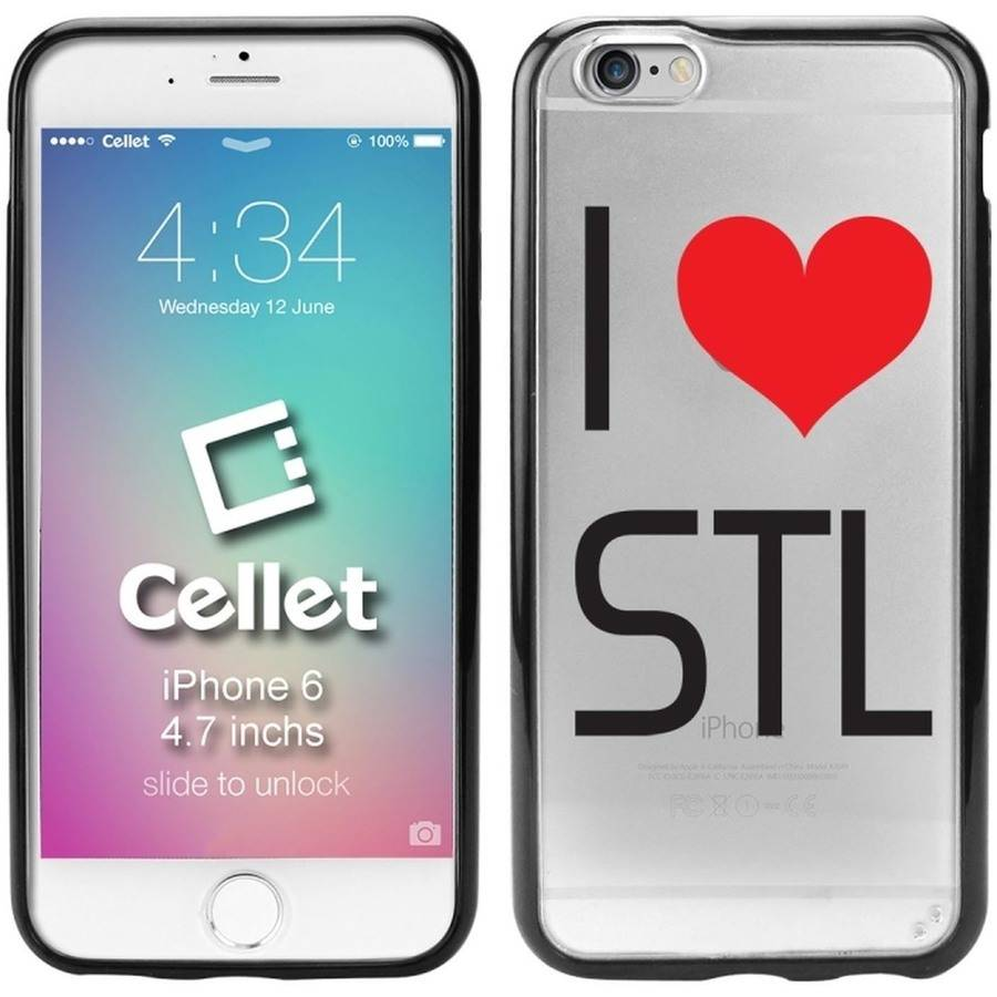 Cellet TPU/PC Proguard Case with I Love St. Louis for Apple iPhone 6
