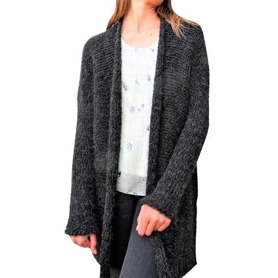 1231959216f Open Front Cardigan Sweaters for Women Long Sleeve Cable Knit Coat Casual  Loose Knitted Outwear Winter Baggy Jacket Top