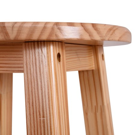 Costway Set of 2 Round 29'' Bar Stools Wood Bistro Dining Kitchen Pub Chair Furniture