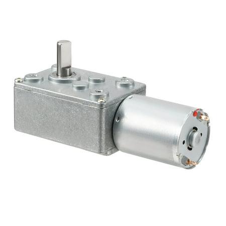 High Torque DC 12V 100RPM Speed Reducer Turbine Worm Gear Motor Worm Gear Reducer