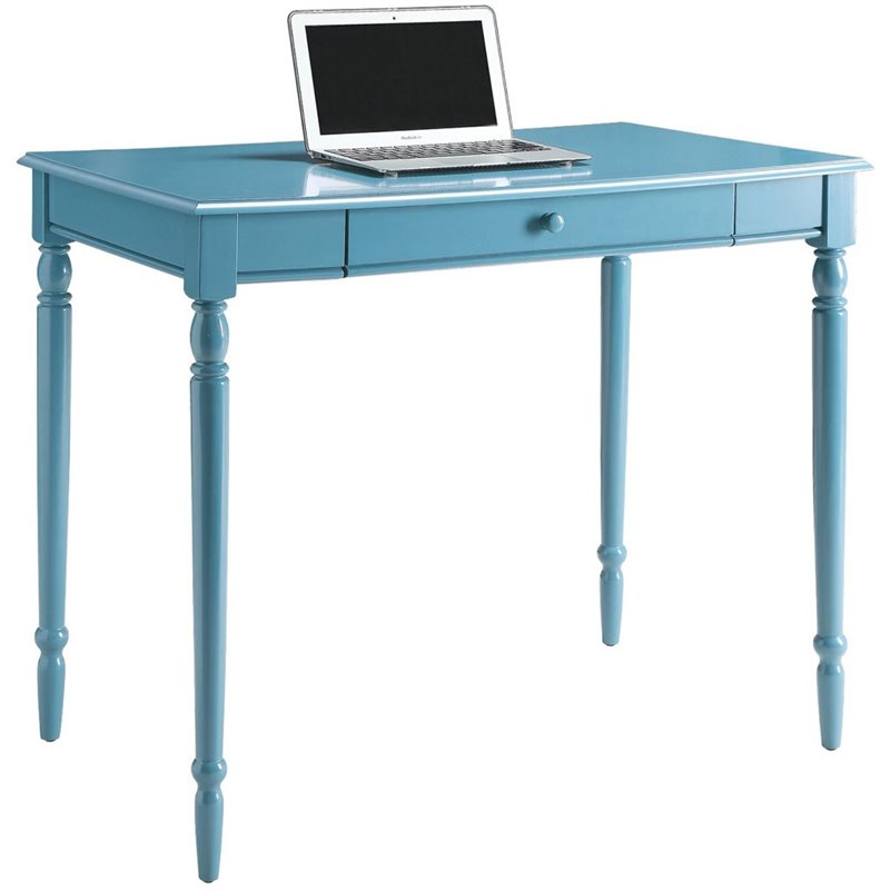Convenience Concepts French Country Computer Desk In Blue