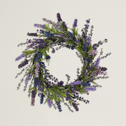 One Allium Way Armande 20'' Faux Lavender Wreath