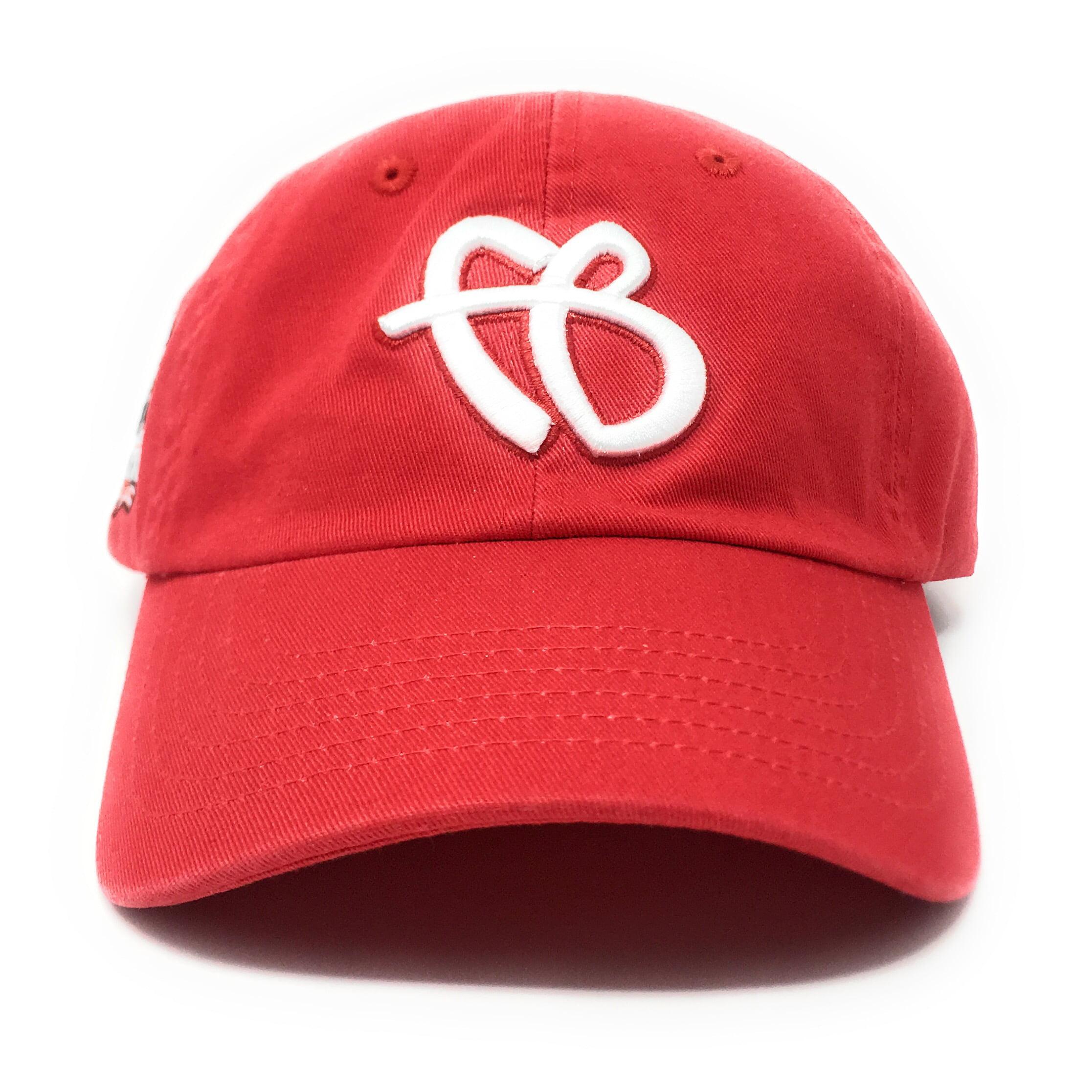 "25 30 Anniversary Cap: FUBU ""FB"" Logo 25th Anniversary Dad Red Snapback Hat"