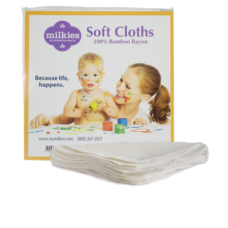 Milkies Soft Cloths: Reusable, 5 super soft baby wipes per package