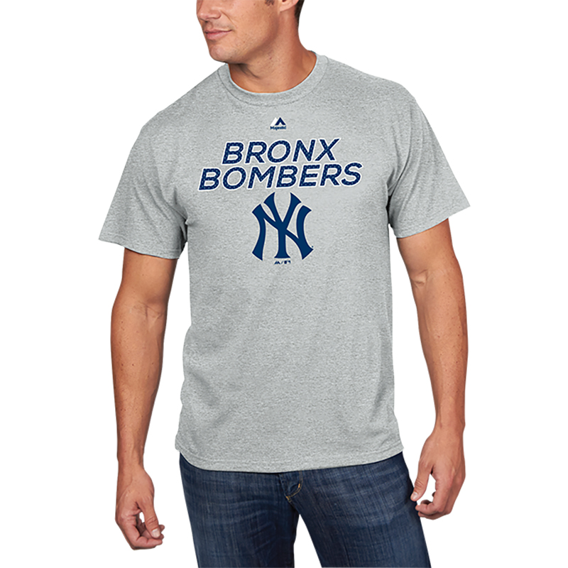 New York Yankees Majestic Bring the Battle T-Shirt - Gray
