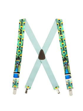 39700253df5 Product Image Suspender Store Peacock 1.5-Inch Wide Suspenders - Small Pin  Clip Multi