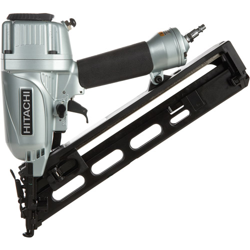 "Hitachi 2 1/2"" 15 Gauge Angled Finish Nailer With Air Duster"