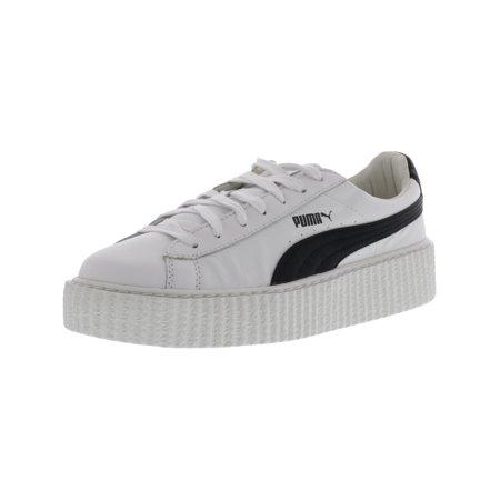 sale retailer 0a597 72465 Puma Women's Creeper White / Black Ankle-High Leather Fashion Sneaker - 9.5M