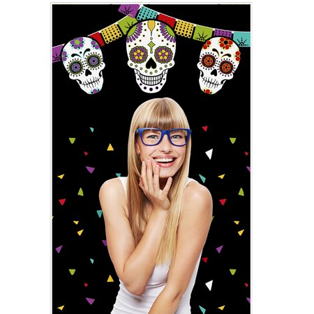 Day Of The Dead - Halloween Sugar Skull Party Photo Booth Backdrops - 36