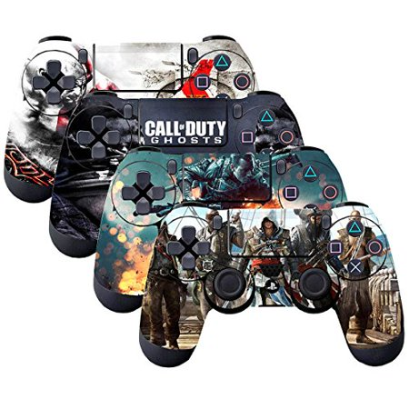 SubClap 4 Packs PS4 Controller Skin, Vinyl Decal Sticker Cover for Sony PlayStation 4 DualShock 4 Wireless Controller (Hero) Wireless Guitar Hero Controller