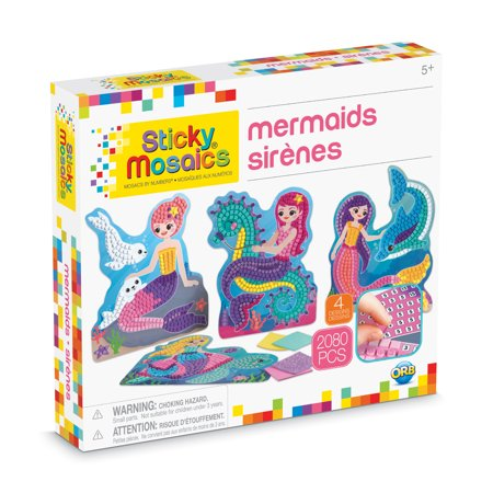 The Orb Factory Sticky Mosaics Mermaids Kit