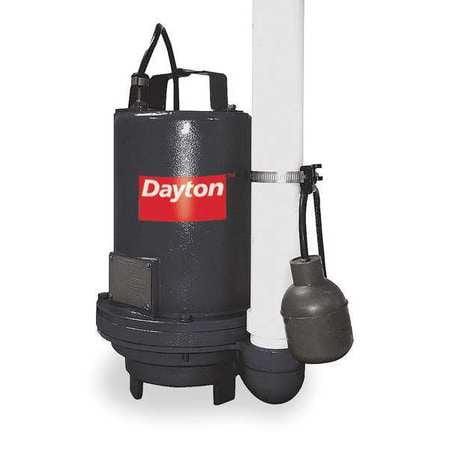 DAYTON 3BB83 Pump, Effluent, 1/2hp