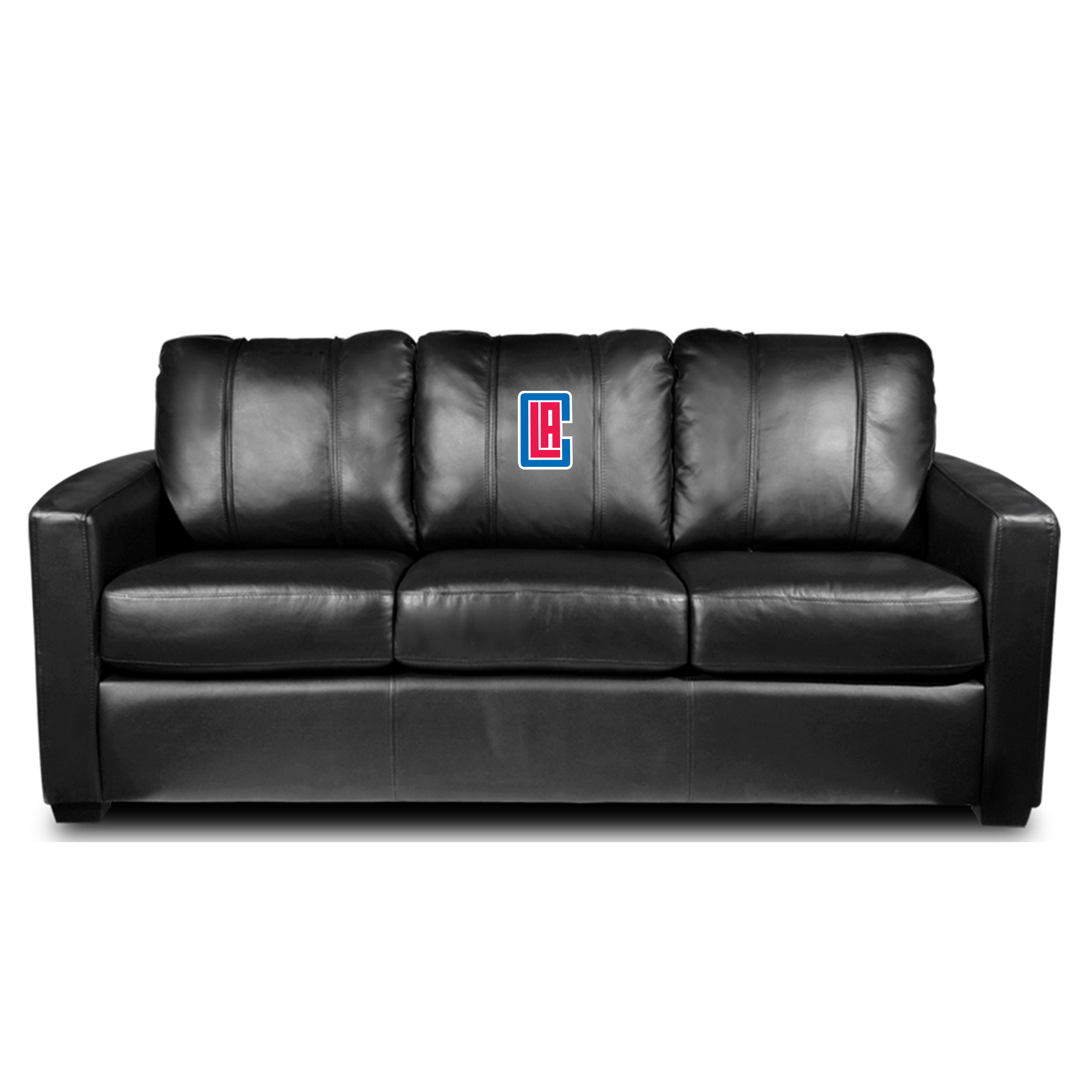 Los Angeles Clippers NBA Silver Sofa with Secondary Logo Panel