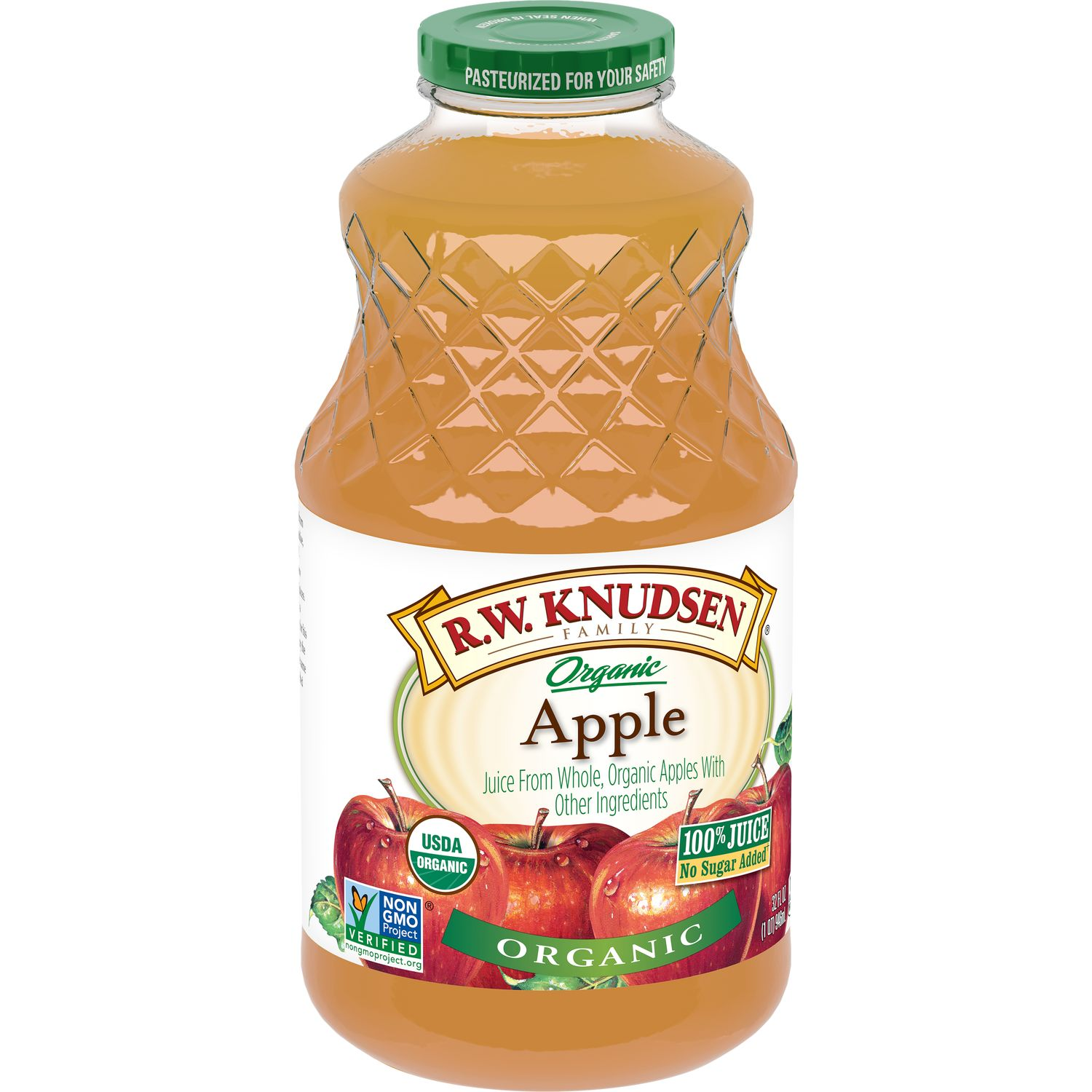 R.W. Knudsen Family Organic Apple Juice, 32 Fl. Oz.