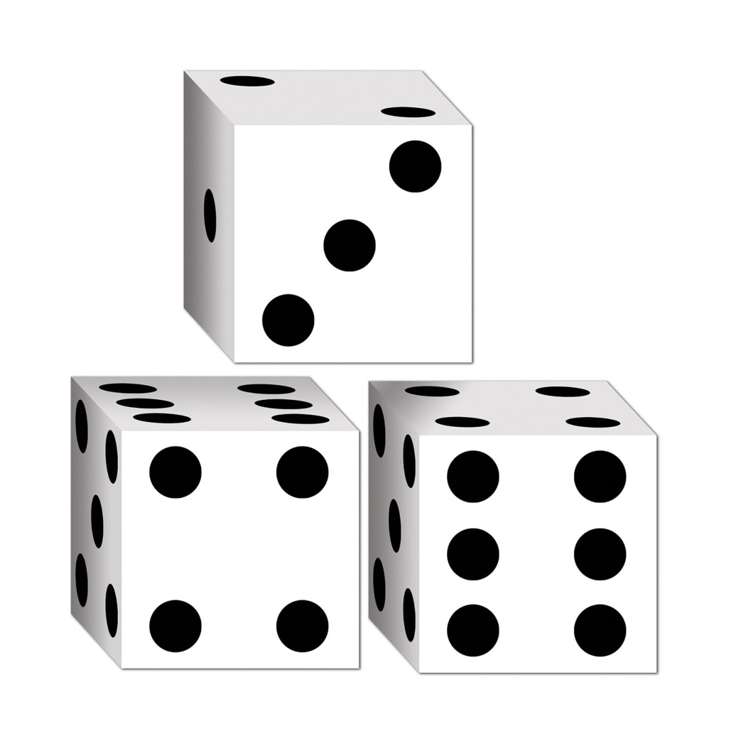 """Club Pack of 36 Decorative Casino Dice Party Favor Boxes 3.25"""""""