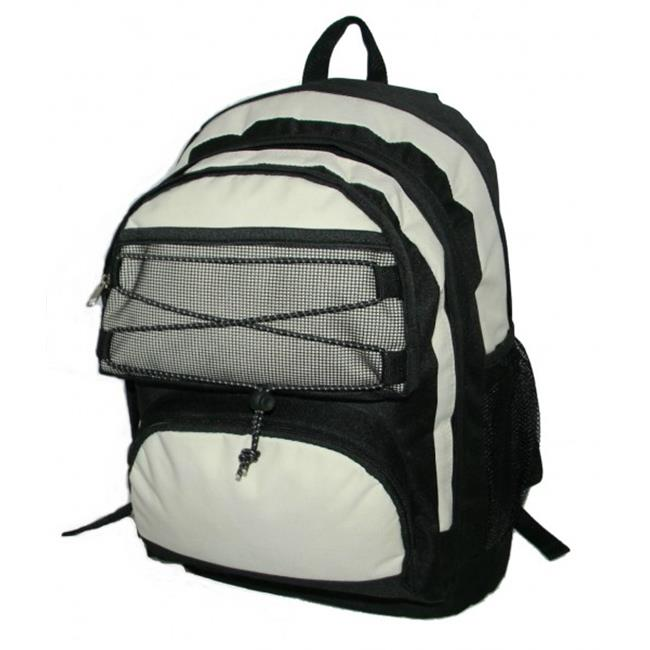 K-Cliffs Backpack With 2 Main Compartments - 18 x 13 x 8 inch Black & Beige