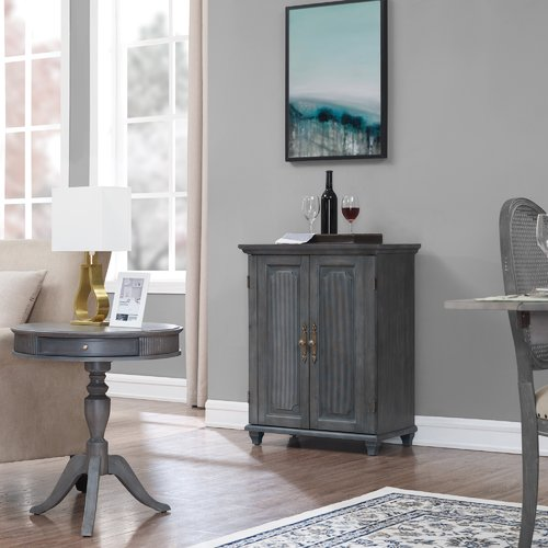 Ophelia & Co. Geneve Convertible Wine 2 Door Accent Cabinet