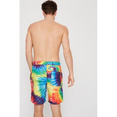 Urban Planet Men's Rainbow Tie Dye Swim Trunk - image 3 of 5