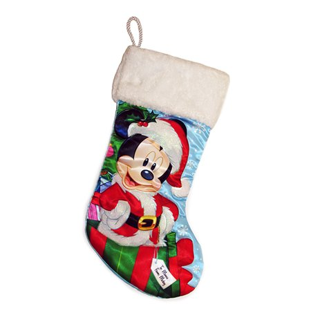 Disney Mickey Mouse in Santa Claus Outfit 18 Inch Christmas Stocking Decoration