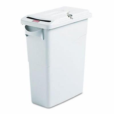 Confidential Document Solutions (Rubbermaid Slim Jim Confidential Document Receptacle w/Lid, 16 gal)