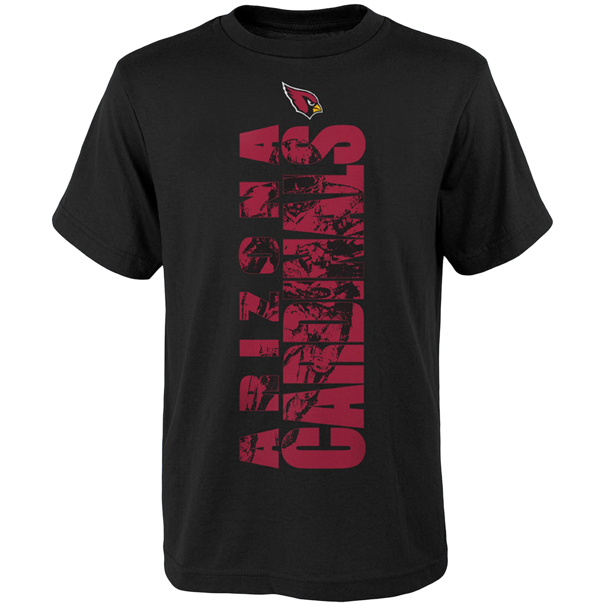 Youth Black Arizona Cardinals Side T-Shirt