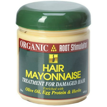 Organic Root Stimulator  Hair Mayonnaise Treatment,  16 oz (Pack of